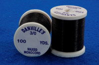 3/0 Waxed Monocord Thread, Black - Product Image