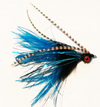 Black and Blue Intruder, Ostrich Snake Hackle  - Product Image