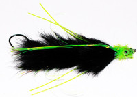 King Salmon Leech, Black with Chartreuse Head - Product Image