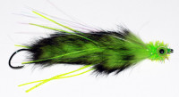 King Salmon Leech, Two Toned Chartreuse/Black - Product Image