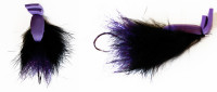 Rabbit Skating Popper, Black (Tube Fly) - Product Image