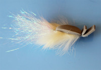 Rabbit Skating Popper, Cream (Tube Fly) - Product Image
