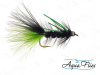 TDF BH Black and Charteuse Wooly Bugger - Product Image