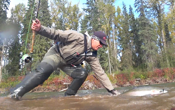 Dave Robinson in Aquaz Dryzip Chest Wader