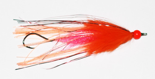 Steelhead Squid Series Fly (Rubber Legs, Pink/Orange)