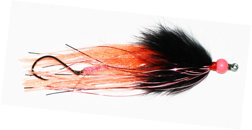 Steelhead Squid Series Fly (Rubber Legs, Pink/Orange/Black)