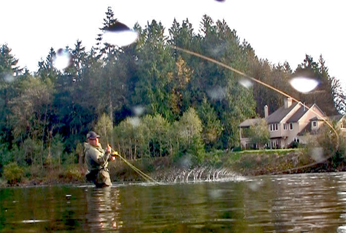 Steelhead fly fishing lessons for Washougal river fishing