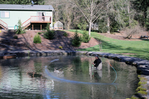 Jeff Layton Spey Casting Lessons at Grabflies.com casting pond