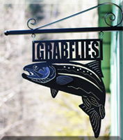 Grabflies Steelhead Shop Sign