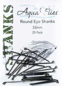 Aquaflies Round Eye Shanks, 33mm - Product Image