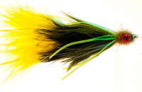 Bait Fish Leech, Olive/Brown/Yellow - Product Image