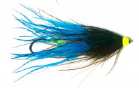 Black and Blue Ostrich Intruder Tube Fly - Product Image