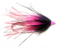 Black and Pink Ostrich Intruder Tube Fly - Product Image