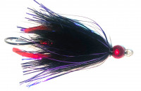 Dancing Leech Worm Tail, Black/Purple/Red Legs - Product Image