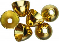 Gold Brass Cone Heads, 1/4 inch - Product Image