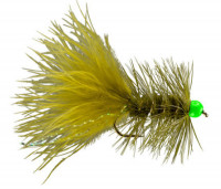 Hot Head Woolly Bugger TB Olive and Chartreuse - Product Image
