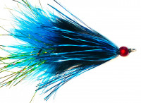 Marabou Tail Bugger Moal, Black/Blue/Chartreuse - Product Image
