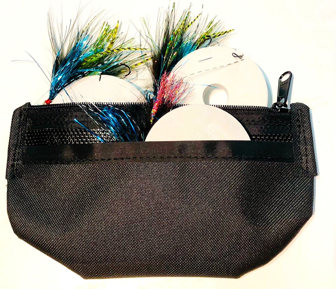 Tote with Flies and Discs
