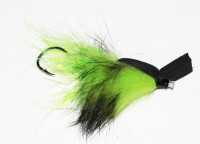 Rabbit Skating Popper, Chartreuse and Black (Tube Fly) - Product Image