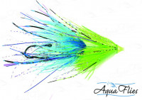 Stu's Chinook Intruders, Chartreuse and Blue - Product Image